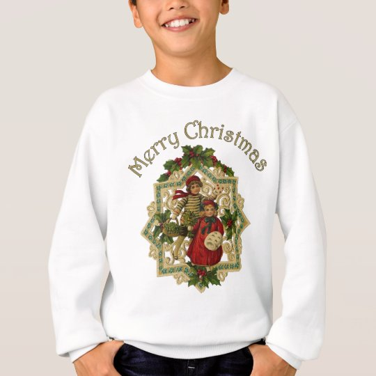 Customizable Vintage Victorian Christmas Children Sweatshirt