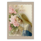 Customizable Virgin Mother Mary with Rosary Card