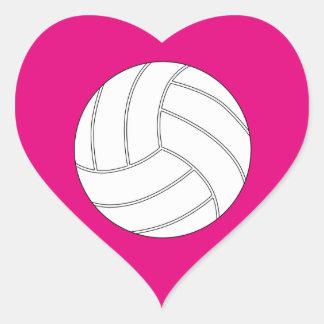 Customizable Volleyball Heart Scrapbook Stickers