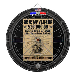 Customizable Wanted Outlaws Police Edition Dartboards