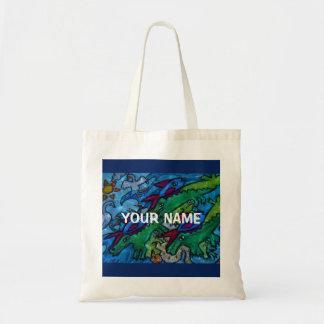 Customizable Water Jumble Tote Bag