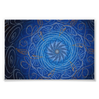 Customizable Water (Psychedelic spirograph) Poster