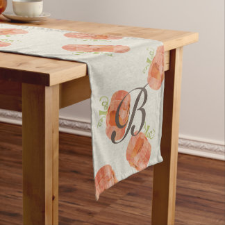 Customizable Watercolor pumpkin table runner