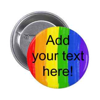 Customizable Watercolor Rainbow 2 Inch Round Button