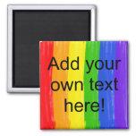 Customizable Watercolor Rainbow Fridge Magnets