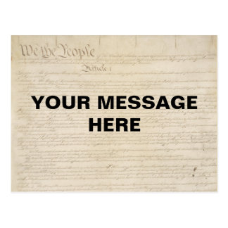 Customizable We the People Constitution Background Postcard
