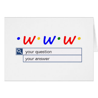 Customizable Web Search - Question and Answer Card