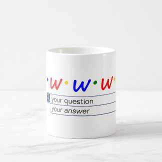 Customizable Web Search - Question and Answer Coffee Mug
