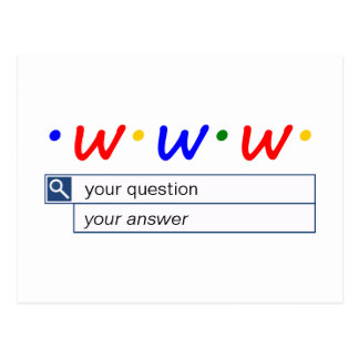 Customizable Web Search - Question and Answer Postcard