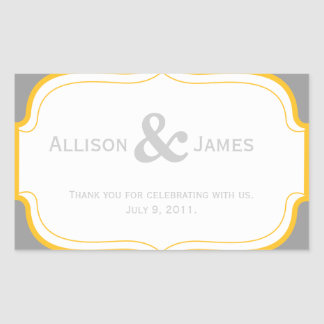 Customizable Wedding Favor Label Sticker