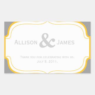 Customizable Wedding Favor Label Sticker