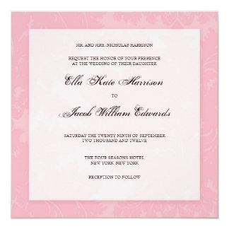 "Customizable Wedding Invitation :: DAMASK 5.25"" Square Invitation Card"