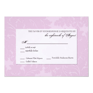 "Customizable Wedding Response RSVP card 5"" X 7"" Invitation Card"