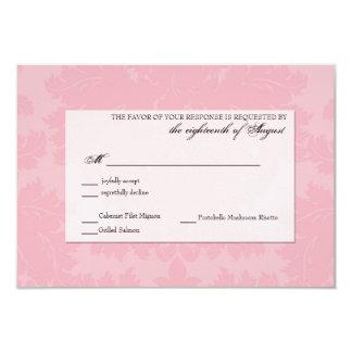 "Customizable Wedding Response RSVP card 3.5"" X 5"" Invitation Card"