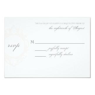 "Customizable Wedding RSVP Card 3.5"" X 5"" Invitation Card"