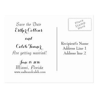 Customizable Wedding Save the Date Postcard
