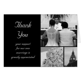Customizable Wedding Thank You Card