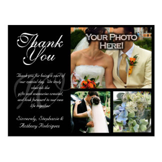 Customizable Wedding Thank You Card 3 Pictures