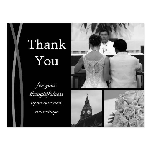 Wedding Gift Thank You Notes Wording: Customizable Wedding Thank You Card Photo Pictures