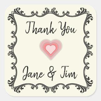 Customizable wedding thank you seals