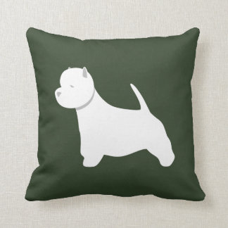 Customizable West Highland White Terrier Pillow