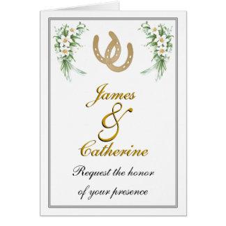 Customizable Western Wedding Cards