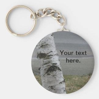Customizable White Birch Keychain