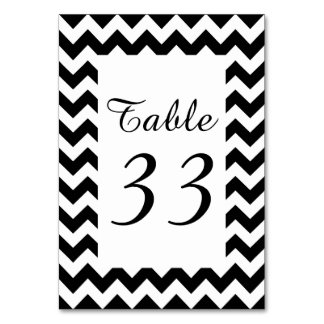 Customizable White Zigzag Numbered Card