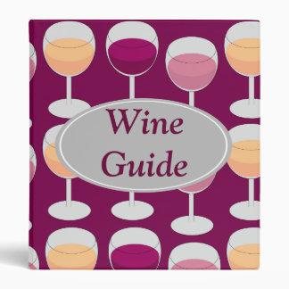 Customizable Wine Binder
