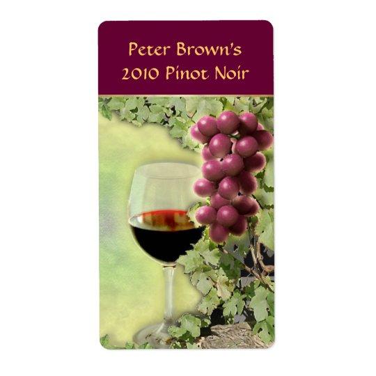 Customizable Wine Label