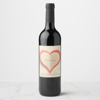Customizable wine label for Valentine's day.