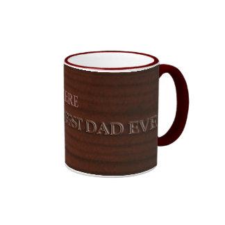 Customizable: Woodcut Dad Ringer Mug