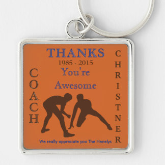 Customizable Wrestling Coach Keychains