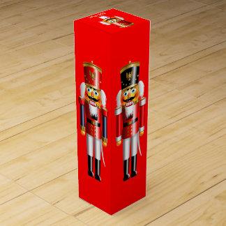 Customizable Xmas Nutcrackers Wine Gift Box