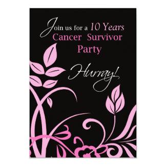 "Customizable Year 10, Ten Year Cancer Survivor Par 5"" X 7"" Invitation Card"