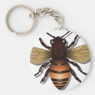 Customizable Yellow Bumble Bee Keychain
