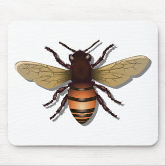 Customizable Yellow Bumble Bee Mouse Pad