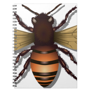 Customizable Yellow Bumble Bee Spiral Note Book