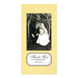 Customizable Yellow Chic Photo Card