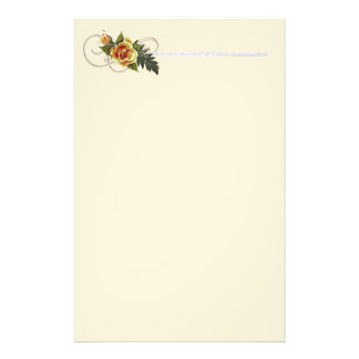 CUSTOMIZABLE Yellow Roses Custom Stationery