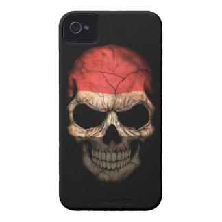Customizable Yemen Flag Skull iPhone 4 Case-Mate Cases