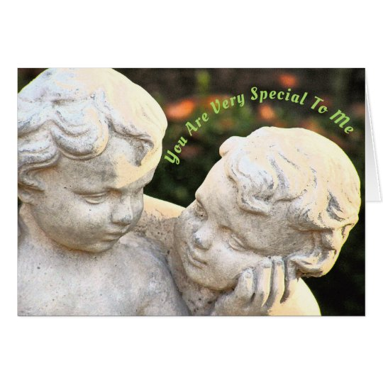 """CUSTOMIZABLE/""""YOU'RE SO SPECIAL TO ME""""/TWO CHERUBS CARD"""