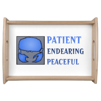 Customizable Zodiac Signs Cancer serving tray
