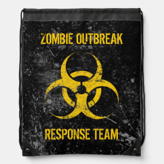 Customizable Zombie Outbreak Response Team Drawstring Bag