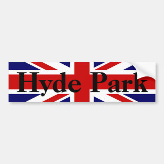 Customization Union Jack Bumper Sticker