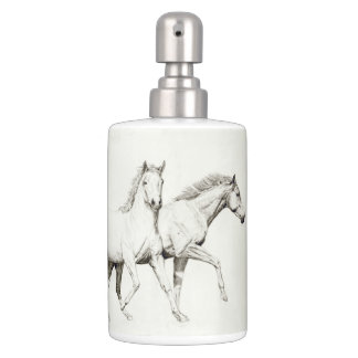 Customize a Horse Soap Dispenser And Toothbrush Holder