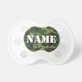 Customize able Baby Name  Camouflage Pacifier