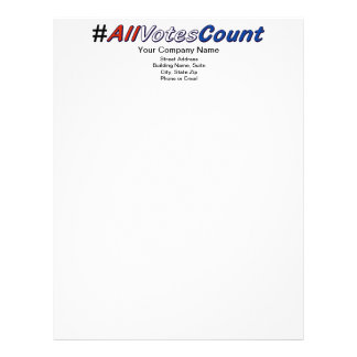 Customize All Votes Count Letterhead