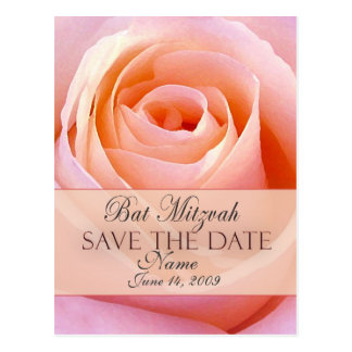 Customize Bat Mitzvah Save the Date Postcard