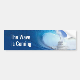 Customize Blue Wave Election 2018 Bumper Sticker